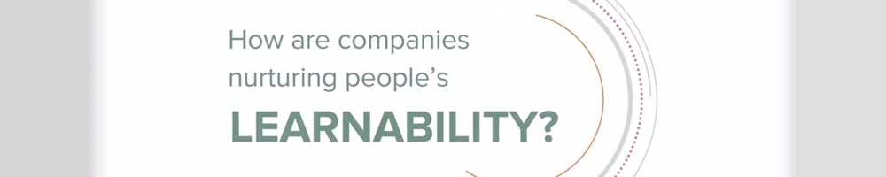 How are companies nurturing people's learnability?